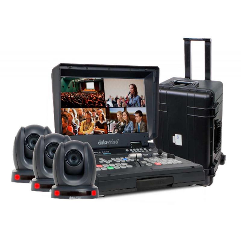 Datavideo Bundle HS-1600T + 3x cameras PTC-140T + Valise HC-800